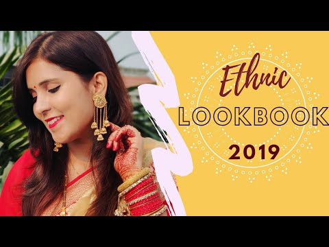 [VIDEO] - Ethnic Lookbook 2019 | How I created My Ethnic Looks | 2k Subs Special | Shailja Singh 7