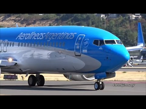 Beautiful Aerolíneas Argentinas Boeing 737-800 Test Flight @ KBFI Boeing Field