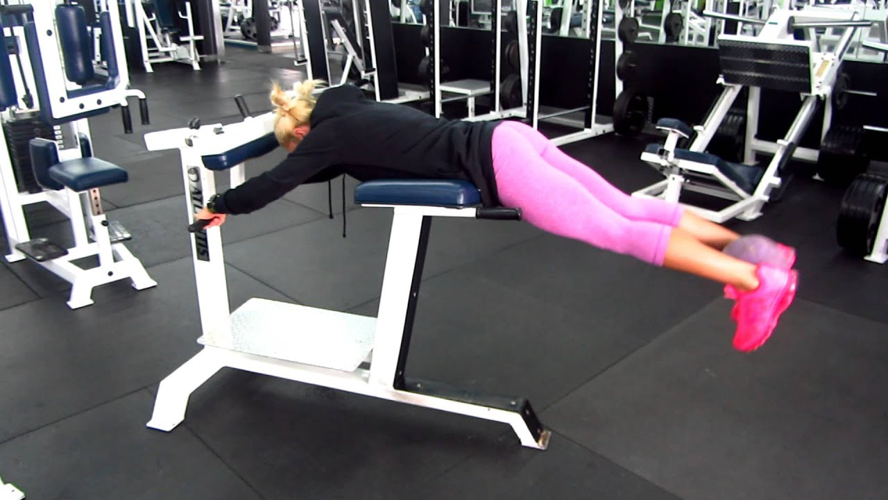 Low Back Extension Machine GLUTE/LOWER BACK EXERC...