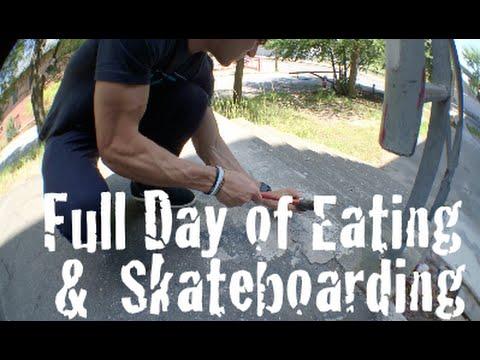 Full Day of Eating #8 | Skateboarding, Spot Fixing
