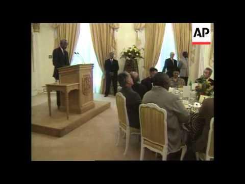 SOUTH AFRICA: LIBYAN LEADER MOAMMAR GADHAFI VISIT