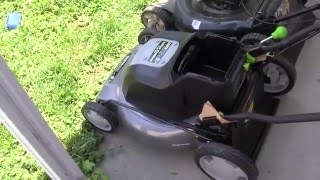 EarthwiseBattery Powered Lawn Mower- Unboxing Review and Test!