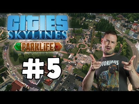 Sips Plays Cities Skylines: Parklife (17/5/2018) #86 - welcome to jurassic park