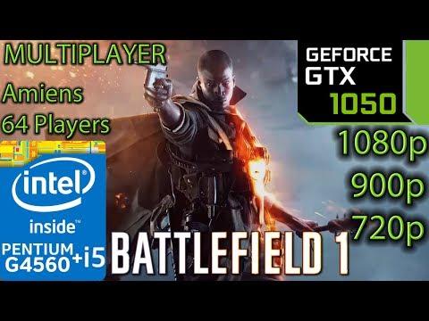 Battlefield 1 Multiplayer - GTX 1050 2GB - G4560 and i5 7400 - 1080p - 900p - 720p - Amiens - 동영상