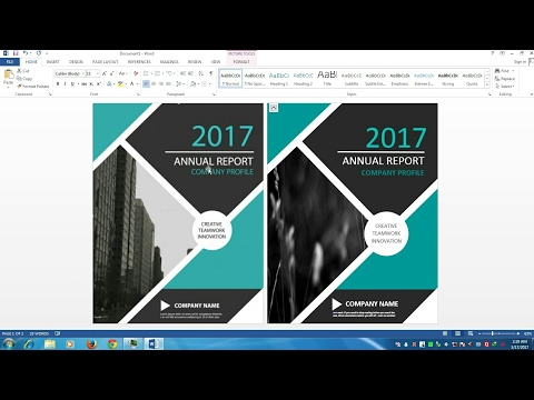 Awesome Cover Page Designing In MS Word 2013