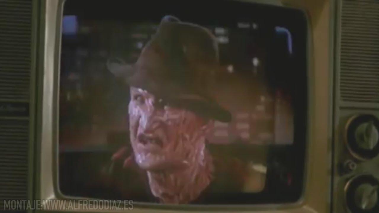 Freddy Krueger poniendo orden en TV