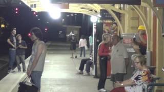 Goulburn railway station by night, NSW, Australia