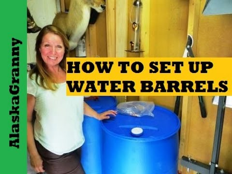 water storage barrels sanitize and set up - Water Storage Barrels