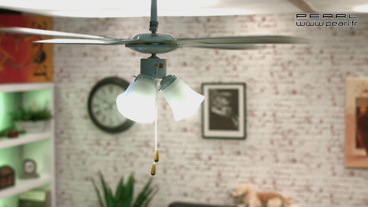 nx9081 ventilateur de plafond vt 696 bois 105cm youtube. Black Bedroom Furniture Sets. Home Design Ideas