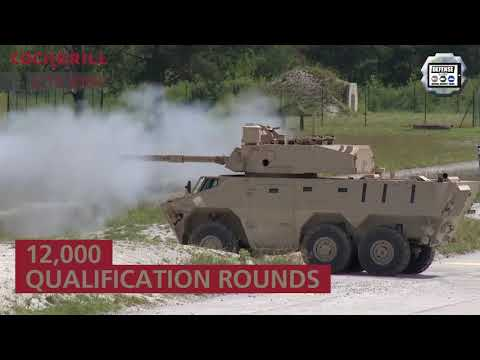 CMI Defence LAAD 2019 Brazil Cockerill CPWS 25 LCTS 90MP weapon station turret training system