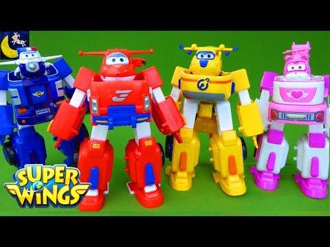 Super Wings Toys Transforming Jett Robo Rig Robot Suit Donnie Dozer Paul Police Car Dizzy Toys