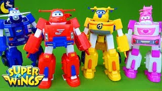 Super Wings Toys Transforming Jett Robo Rig Robot Suit Donnie Dozer Paul Police Car Dizzy Toys