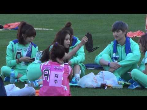 20130903 A-PINK EunJi & BoMi & NaEun & NamJoo @ Idol Sports Athletics Championships