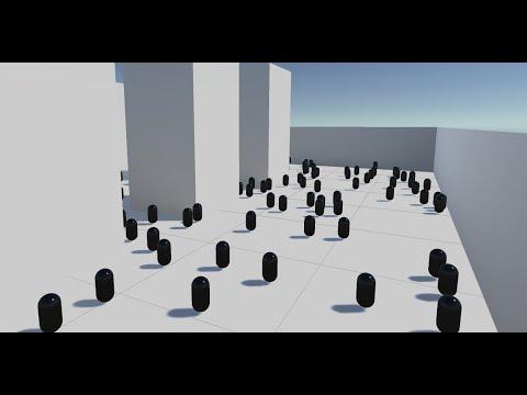 Unity3D Efficient Crowd simulation (People Gun)