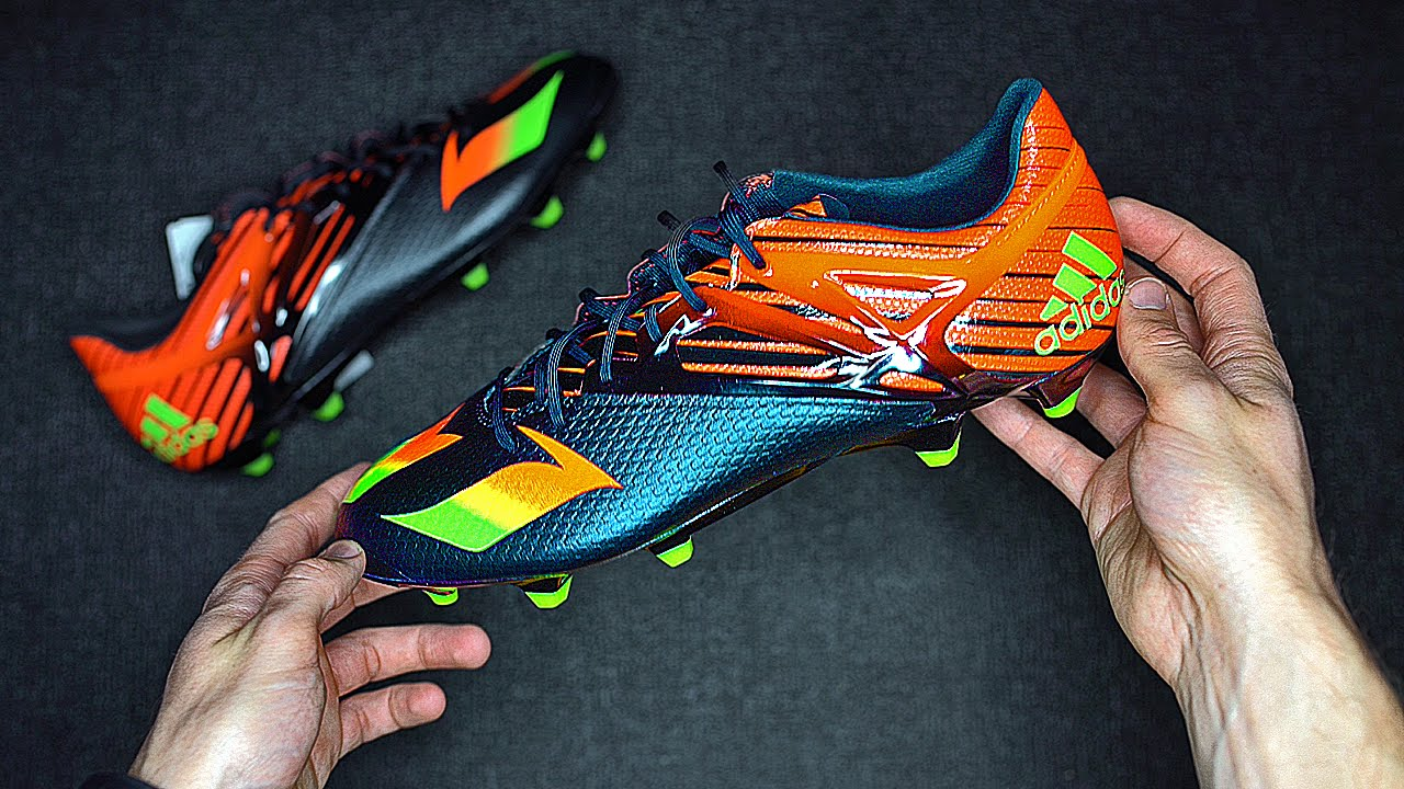 6ffeff9ba76 New Messi Football Boots  adidas Messi15.1 - Unboxing - YouTube