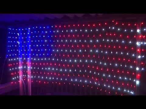American Flag Light 420 Super Bright LED Independence Day Waterproof 4th July KAZOKU Amazon Review