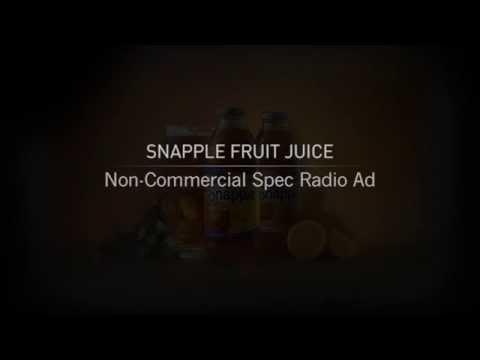 Hitesh Jinabhai - Snapple Fruit Juice - Non Commercial Spec Radio Ad