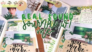 ASMR Real Sound K-Pop Journal With Me  | No Talking + Music! *:・゚✧ | kkinotes