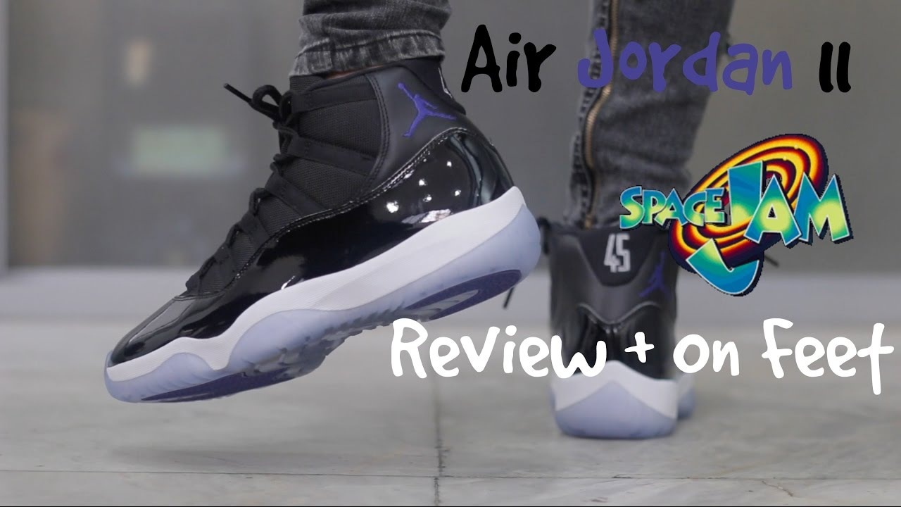 huge selection of 0f417 395ea Air Jordan 11 Space Jam 2016 Review   On Feet - YouTube