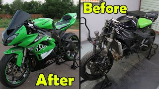 Rebuilding A ZX-6R in 10 Minutes