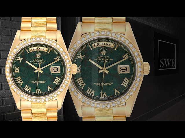 Rolex President Day-Date 18078 and Datejust 69138 Bloodstone Watches | SwissWatchExpo