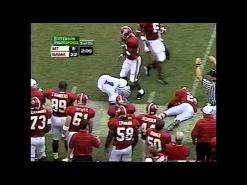 2002 Middle Tennessee State vs. Alabama Highlights