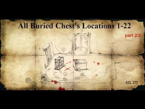 All Buried Chest Treasure Locations And Maps Info Playstationtrophies Org