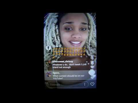 IIGonz|Dyl & Kota instagram live 5 19 2017 part 1-Dakota asking fans what she should post on Youtube