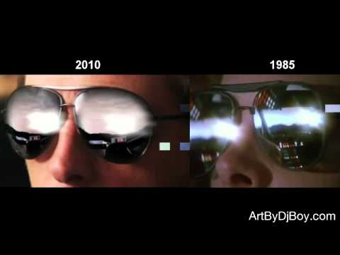 Back To The Future 1985 and 2010 Comparison