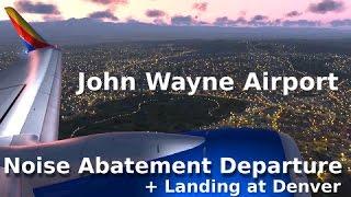 [FSX] John Wayne Noise Abatement Departure + Landing at Denver || PMDG 737-700 ||