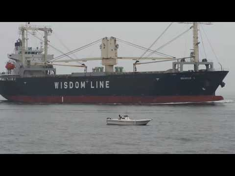 Full container ship and general cargo ship that enters Nagoya port