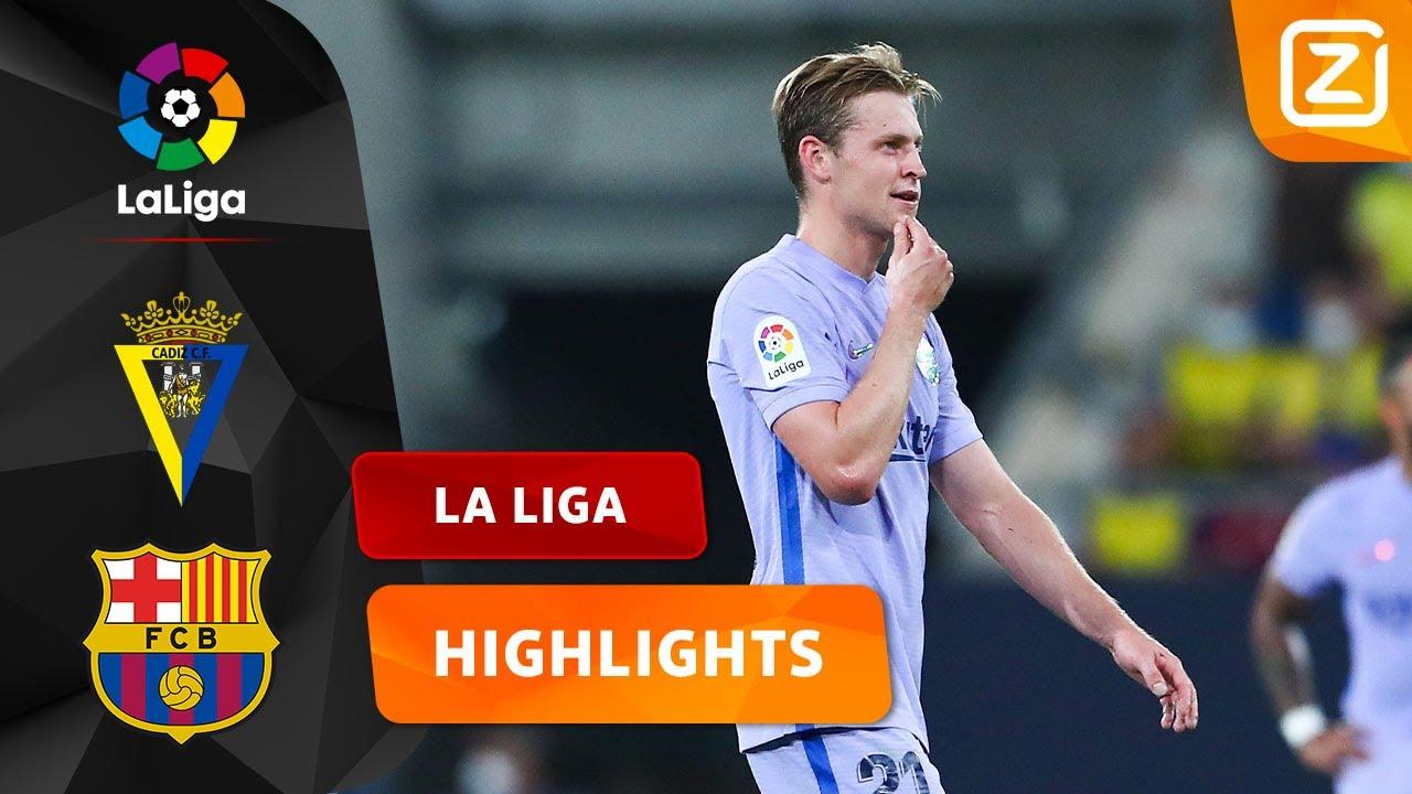 FRENKIE DE JONG VERLAAT HET VELD MET ROOD! 😳🟥 | Cádiz vs Barcelona | La Liga 2021/22 | Samenvatting