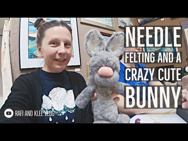 Klee Takes Needle Felting And Creates A Crazy Cute Bunny