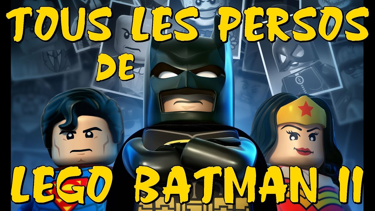 tous les persos de lego batman 2 sp cial vues youtube. Black Bedroom Furniture Sets. Home Design Ideas
