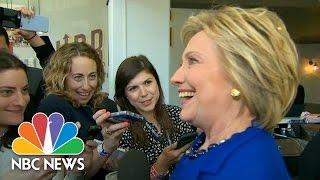 Hillary Clinton Won't Talk About Elizabeth Warren Meeting But Will Talk About Chai | NBC News
