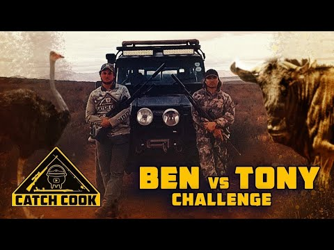Catch Cook challenge - EPIC hunt and cook-off with Ben & Tony | Ostrich and Wildebeest