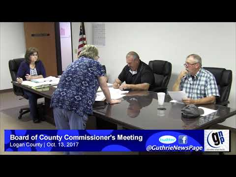 Board of County Commissioner's Meeting (Oct. 13, 2017)