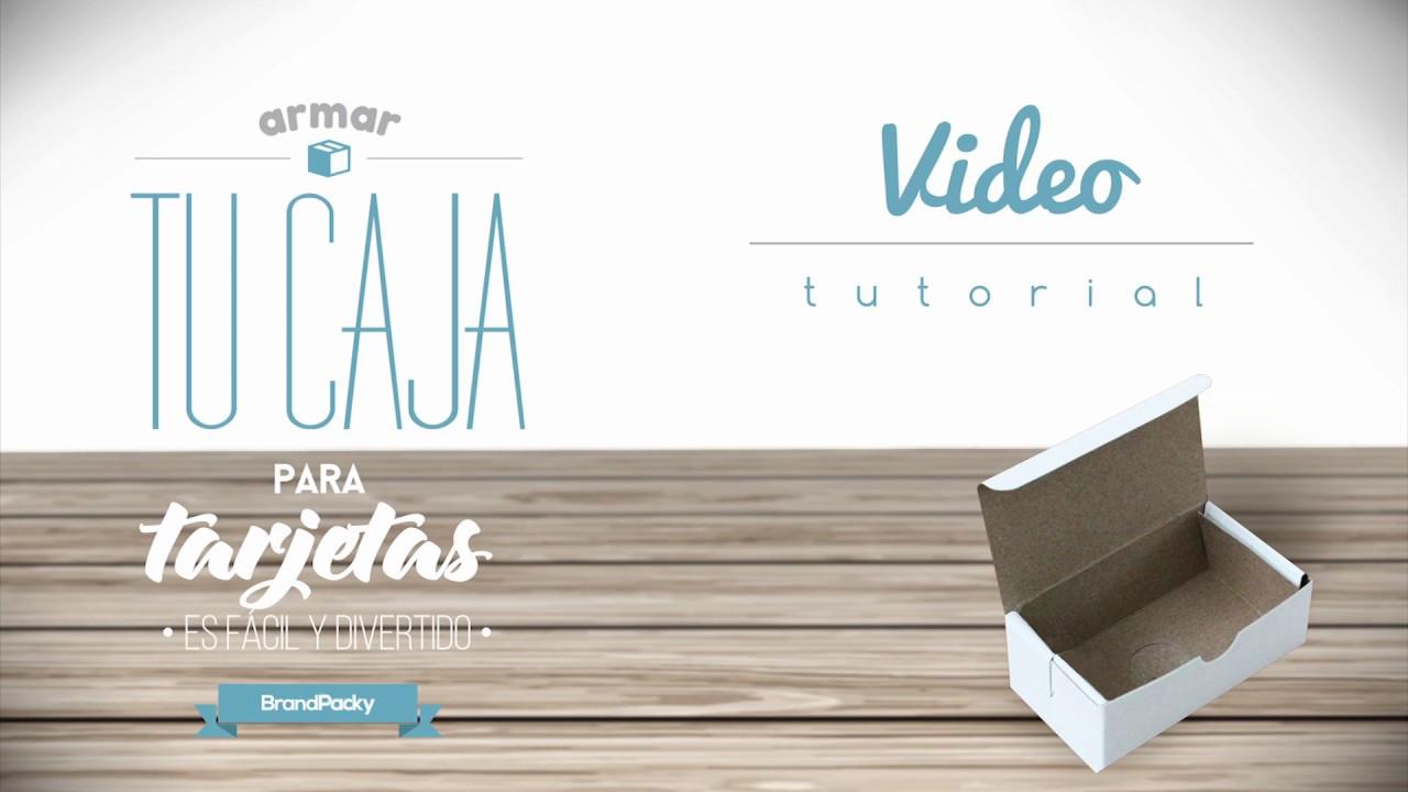Caja para Tarjetas de Presentación ¡Ármala tu mismo! - YouTube
