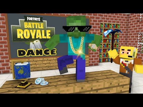 Monster School: Fortnite Battle Royale Dance Challenge - Minecraft Animation thumbnail