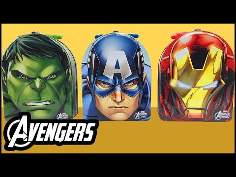 Avengers Assemble Kinder Egg Surprise Toys – Captain America Hulk Iron Man Spiderman Toys