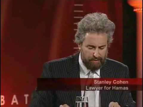 Stanley Cohen palestine israel conflict america.flv