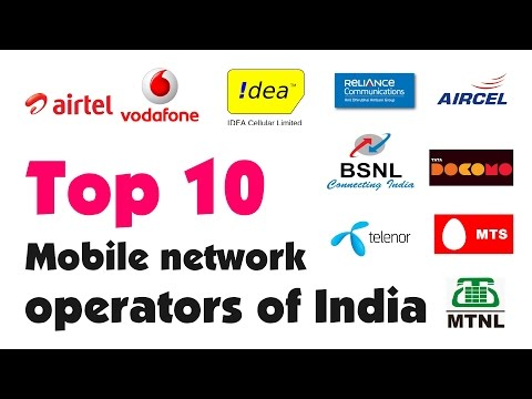 Top 10 Mobile Network Operators in India.