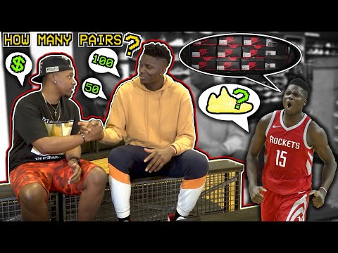 HOW BIG IS CLINT CAPELA'S SNEAKER COLLECTION? SHOPPING, TALKING FASHION, & BASKETBALL WITH A ROCKET!