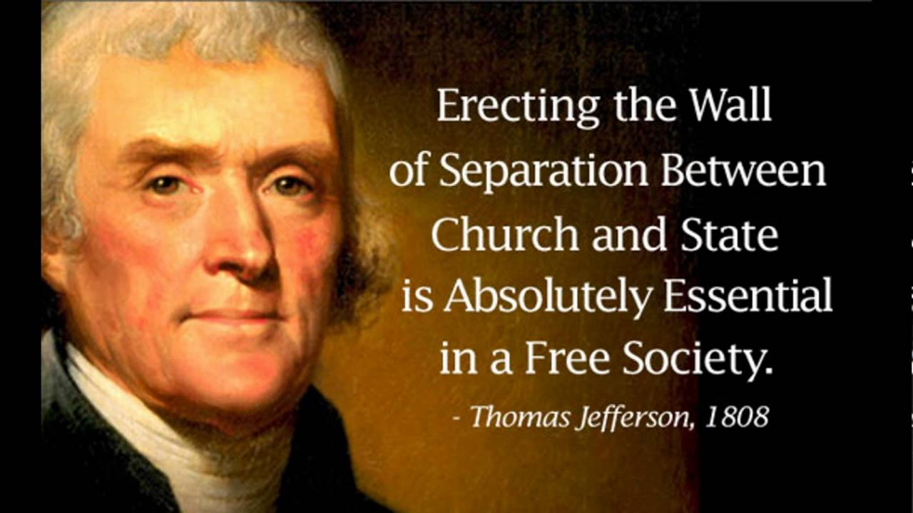 banning prayer in schools violates the spirit of thomas jeffersons plan for us freedom of religion The religious views of thomas jefferson diverged widely from the orthodox christianity of his era throughout his life, jefferson was intensely interested in theology, religious studies, and morality.