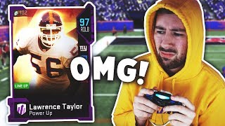 😱 LAWRENCE TAYLOR PLAYS LIKE A GOLDEN TICKET IN NOVEMBER  😱 Madden 19 Gameplay
