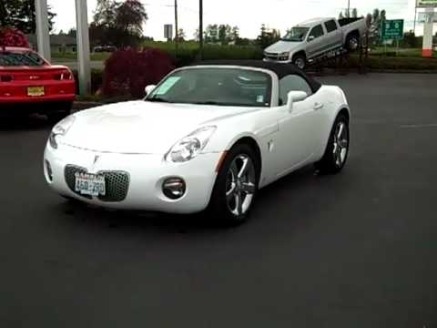 2008 pontiac solstice convertible white enumclaw seattle. Black Bedroom Furniture Sets. Home Design Ideas
