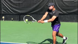 Professional Tennis Players Training for 2019 season with Coach Brian Dabul.