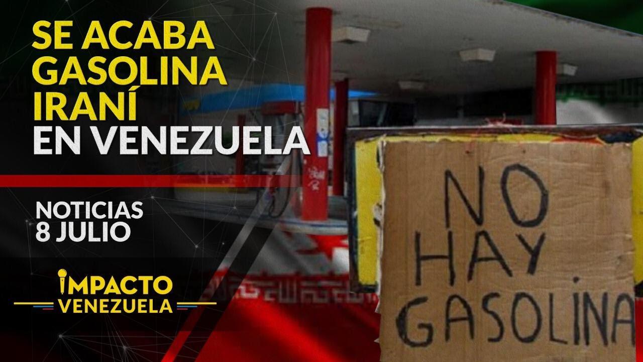 ¡SE ACABA! Gasolina iraní a cuenta gotas | 🔴 NOTICIAS VENEZUELA HOY julio 8 2020