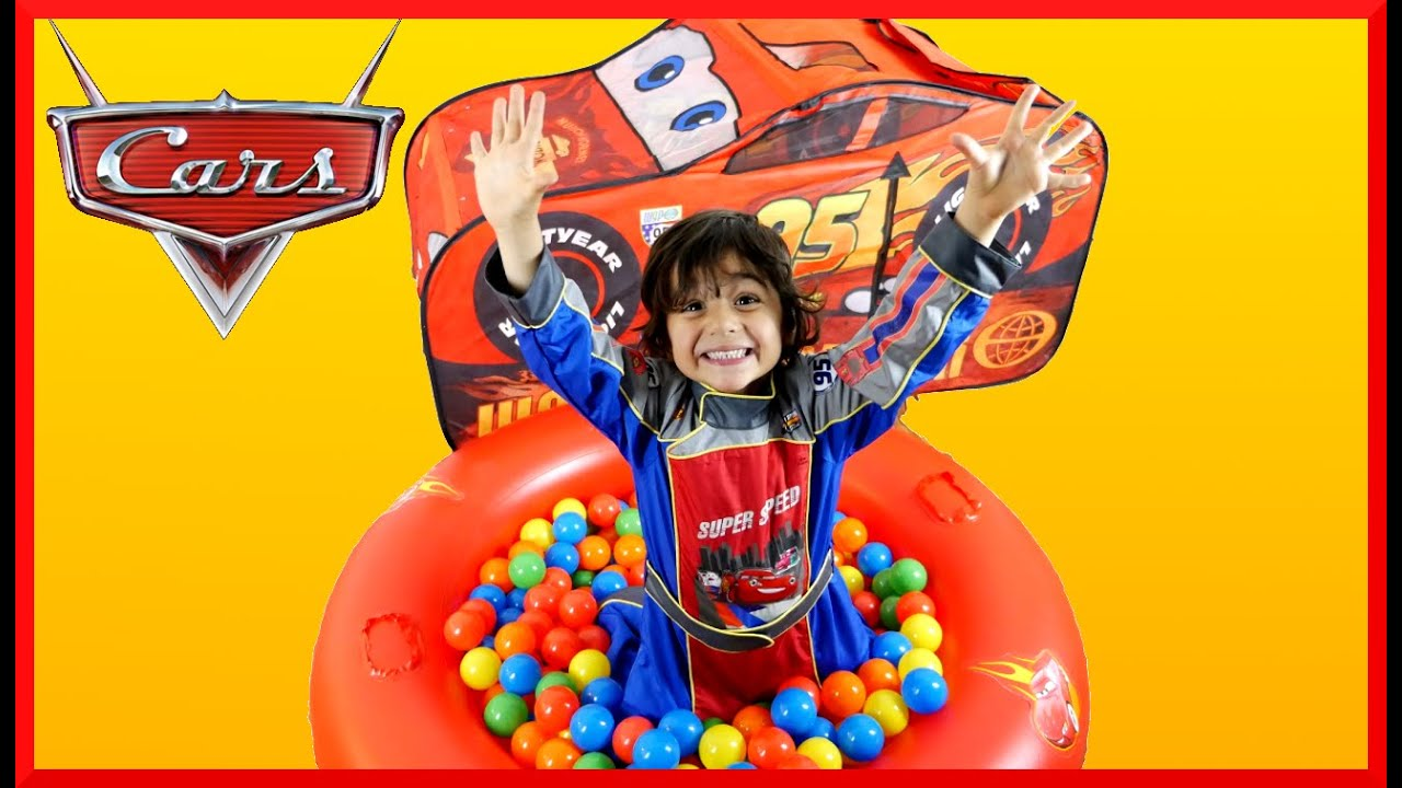 Disney Cars Toys GIANT Lightning McQueen SURPRISE TOYS Tent Disney Cars Ball Pit Pool Kids Video - YouTube  sc 1 st  YouTube & Disney Cars Toys GIANT Lightning McQueen SURPRISE TOYS Tent Disney ...