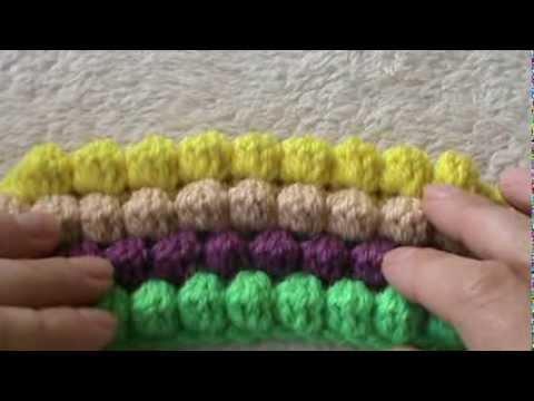 Punto Crochet All Uncinetto.Variante Punto Bobble All Uncinetto Youtube